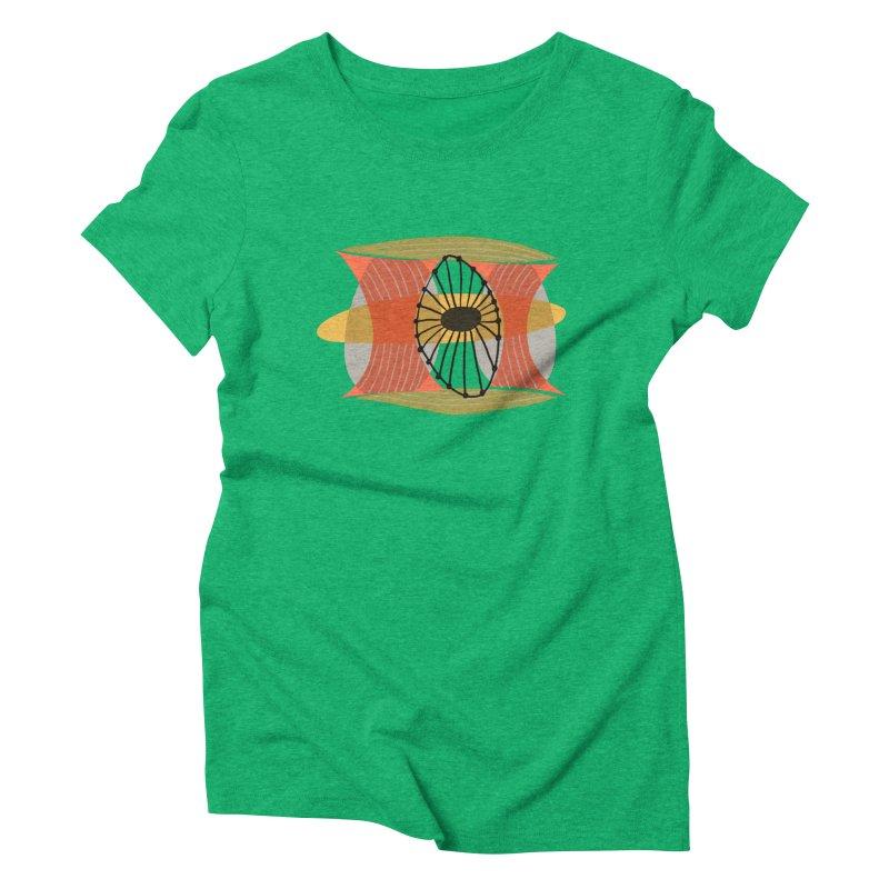 Wheel Women's Triblend T-Shirt by Michael Pfleghaar