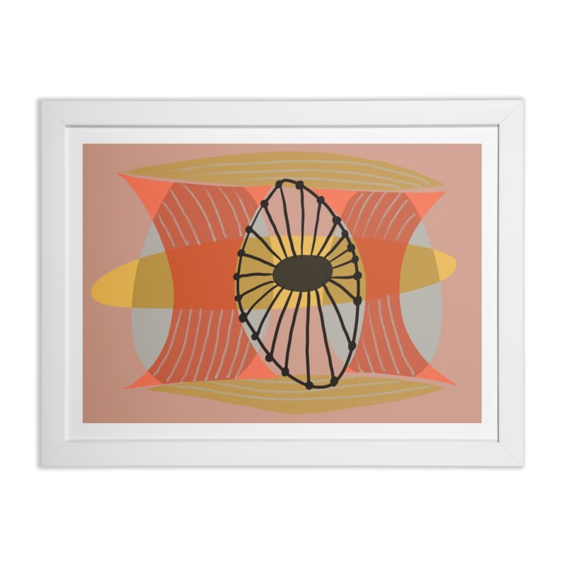 Wheel in Framed Fine Art Print White by Michael Pfleghaar