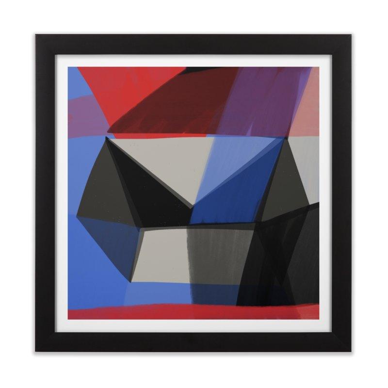 Square Diamonds 1 in Framed Fine Art Print Black by Michael Pfleghaar