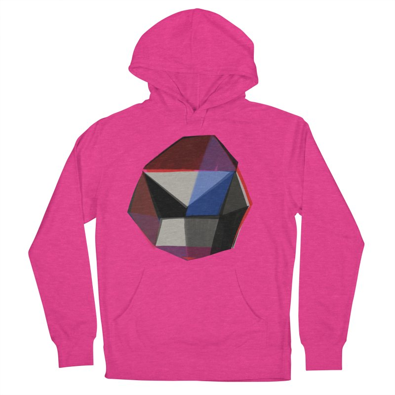 Square Diamonds 1 Women's French Terry Pullover Hoody by Michael Pfleghaar