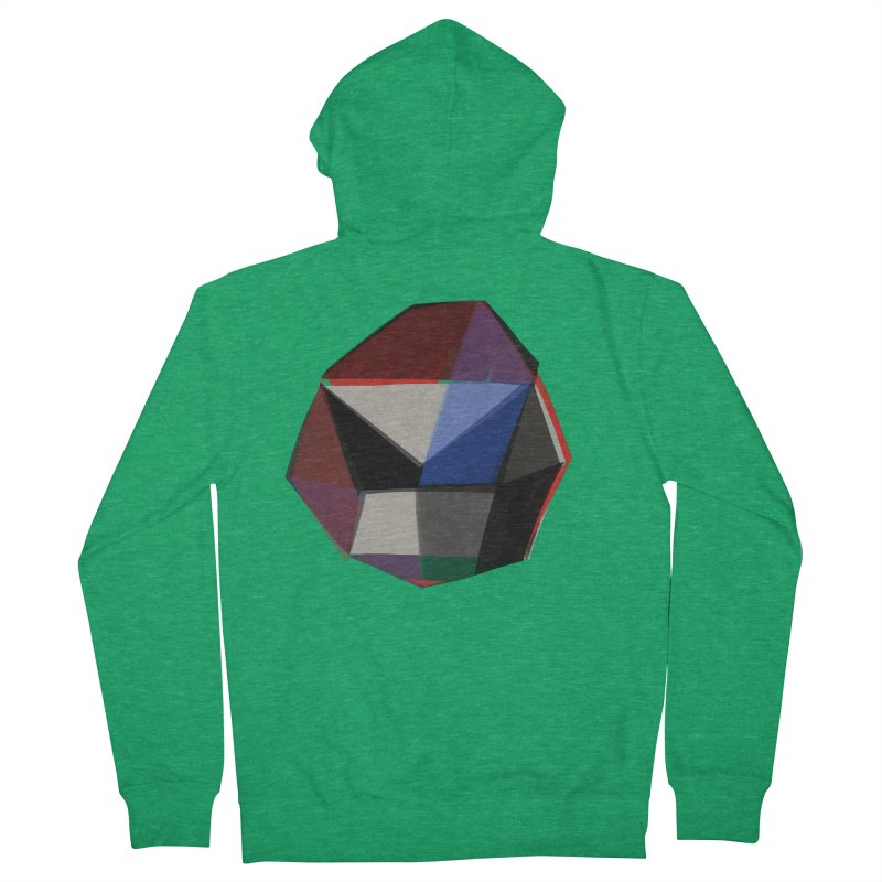 Square Diamonds 1 Women's French Terry Zip-Up Hoody by Michael Pfleghaar