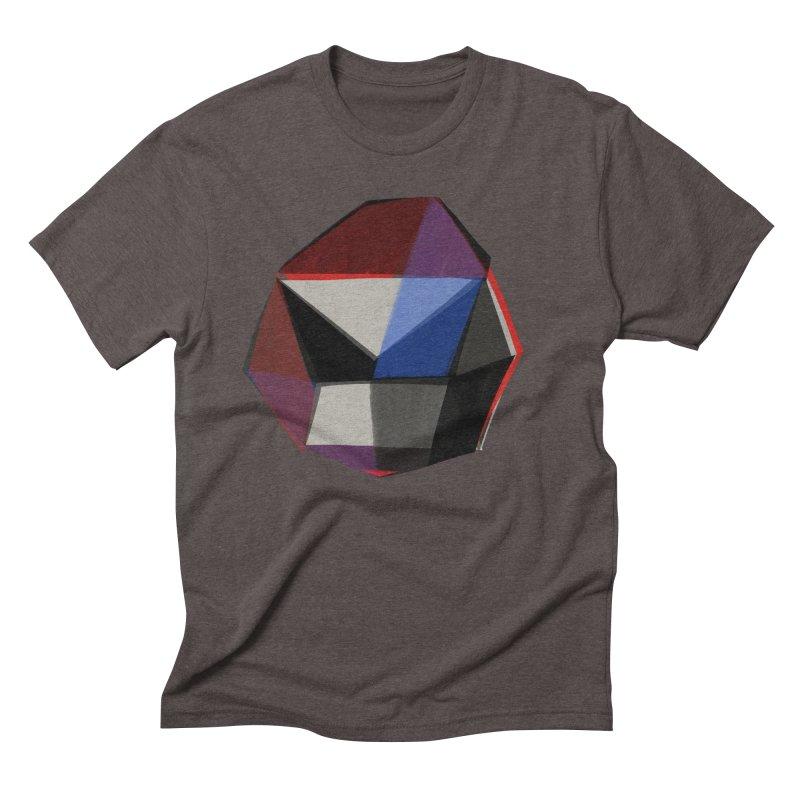 Square Diamonds 1 Men's Triblend T-Shirt by Michael Pfleghaar