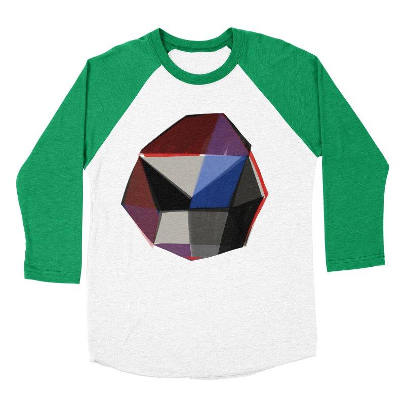 Square Diamonds 1 Women's Baseball Triblend Longsleeve T-Shirt by Michael Pfleghaar
