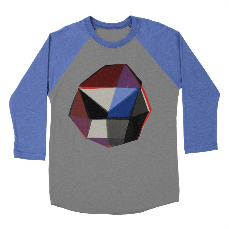 Square Diamonds 1 Women's Baseball Triblend Longsleeve T-Shirt by Michael Pfleghaar