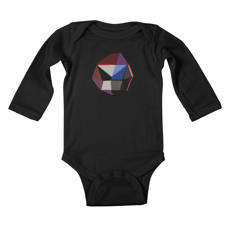 Square Diamonds 1 Kids Baby Longsleeve Bodysuit by Michael Pfleghaar