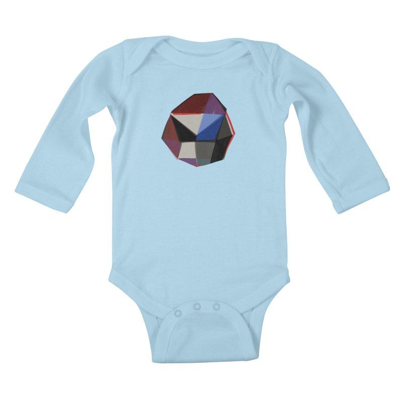 Square Diamonds 1 Kids Baby Longsleeve Bodysuit by Michael Pfleghaar