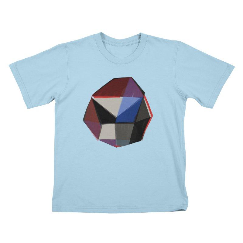 Square Diamonds 1 Kids T-Shirt by Michael Pfleghaar