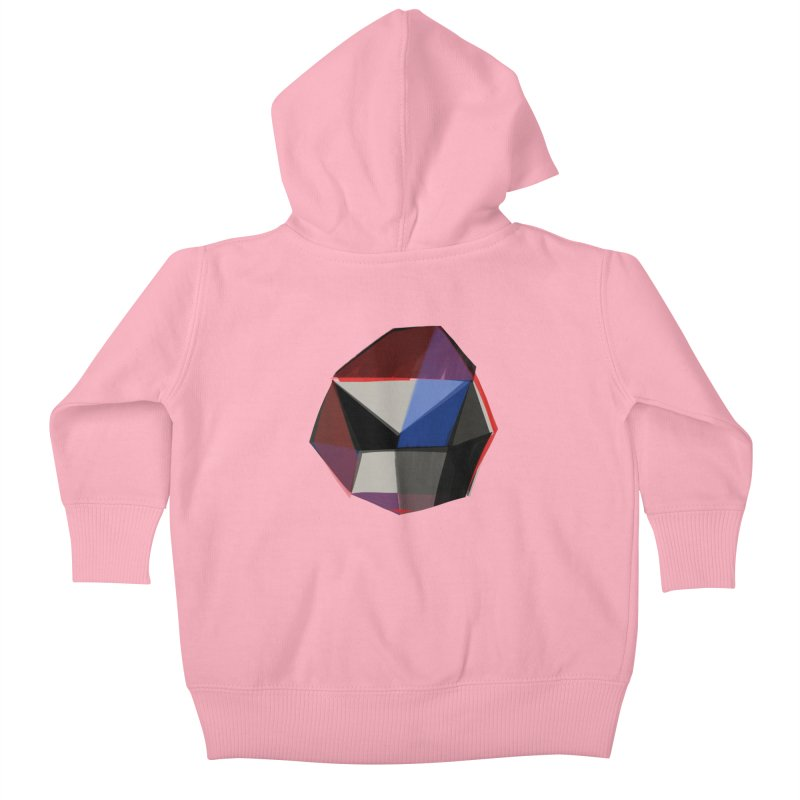 Square Diamonds 1 Kids Baby Zip-Up Hoody by Michael Pfleghaar