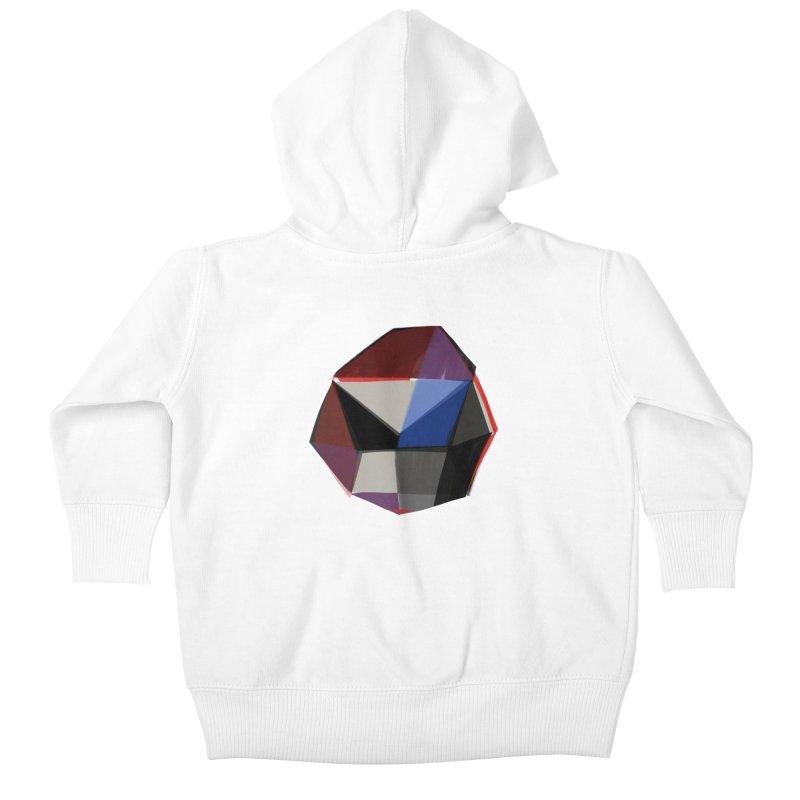 Square Diamonds 1 Kids Baby Zip-Up Hoody by Michael Pfleghaar