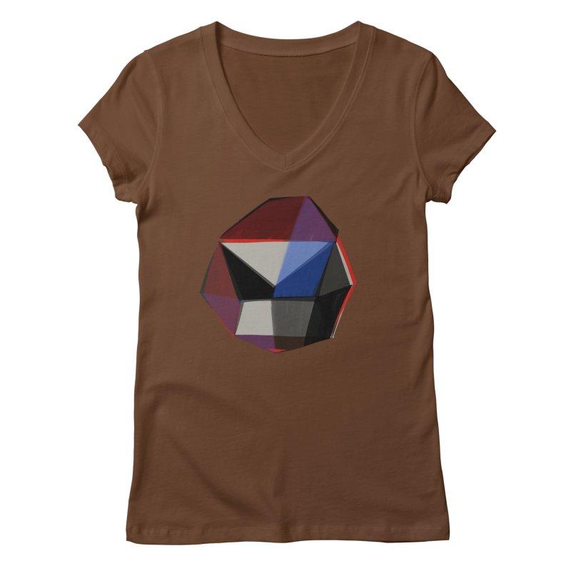 Square Diamonds 1 Women's V-Neck by Michael Pfleghaar