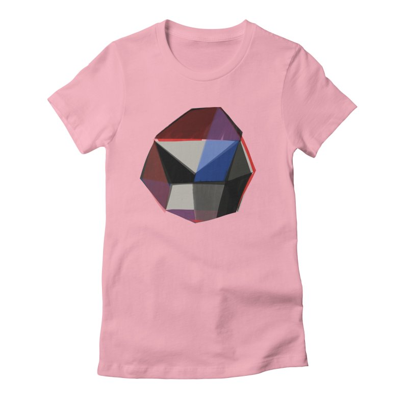 Square Diamonds 1 Women's Fitted T-Shirt by Michael Pfleghaar