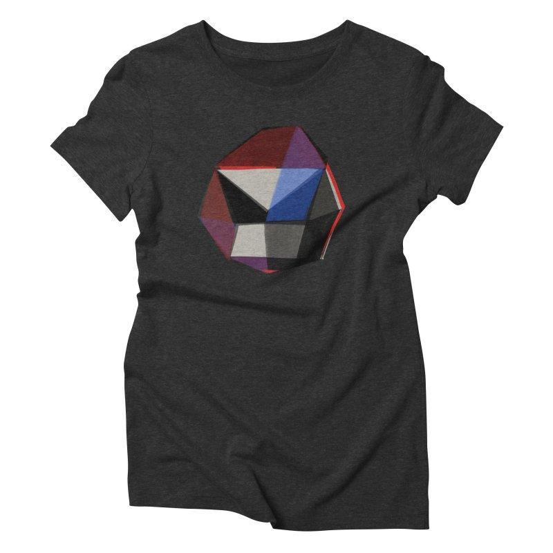Square Diamonds 1 Women's Triblend T-Shirt by Michael Pfleghaar