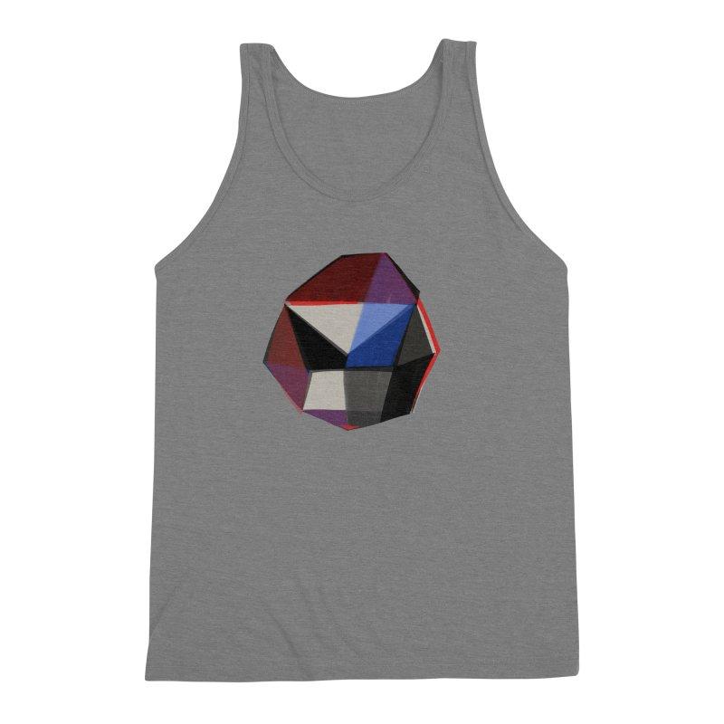 Square Diamonds 1 Men's Triblend Tank by Michael Pfleghaar