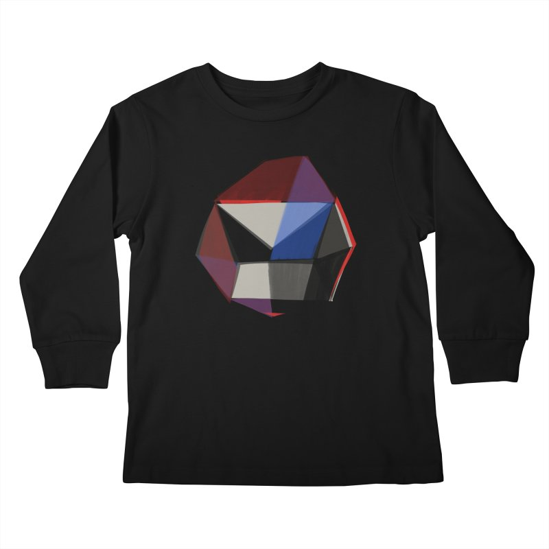 Square Diamonds 1 Kids Longsleeve T-Shirt by Michael Pfleghaar