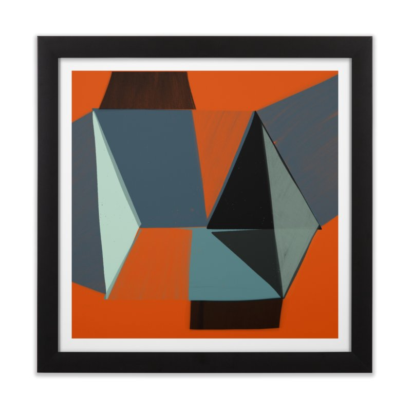 Square Diamonds 3 in Framed Fine Art Print Black by Michael Pfleghaar