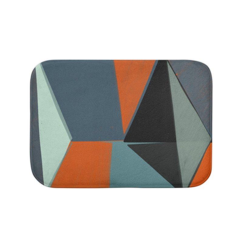 Square Diamonds 3 Home Bath Mat by Michael Pfleghaar