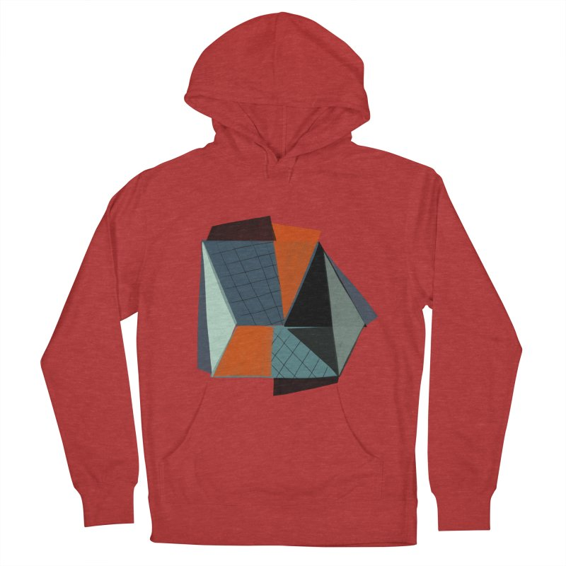 Square Diamonds 3 Men's French Terry Pullover Hoody by Michael Pfleghaar