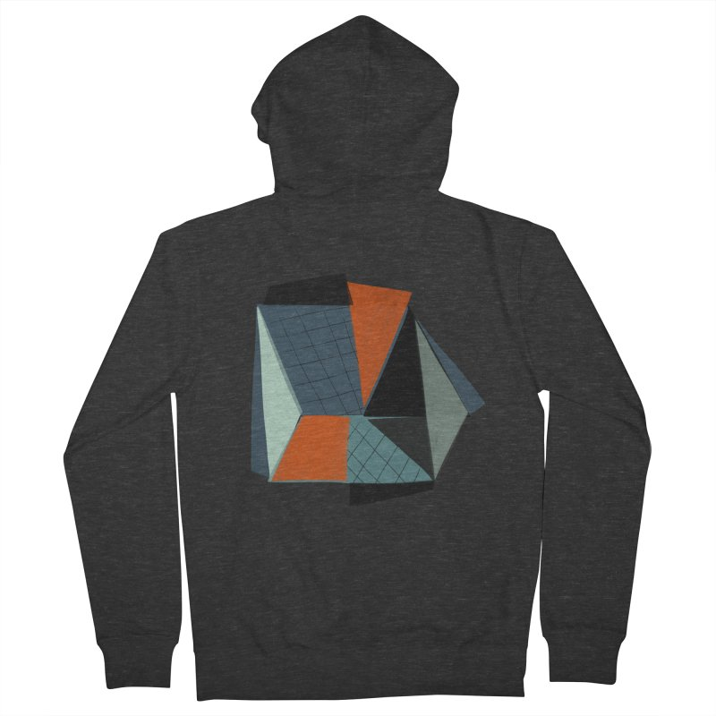 Square Diamonds 3 Women's French Terry Zip-Up Hoody by Michael Pfleghaar