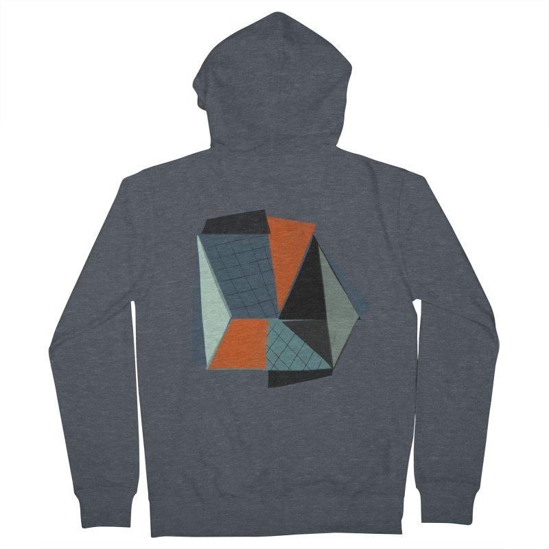 Square Diamonds 3 Men's Zip-Up Hoody by Michael Pfleghaar