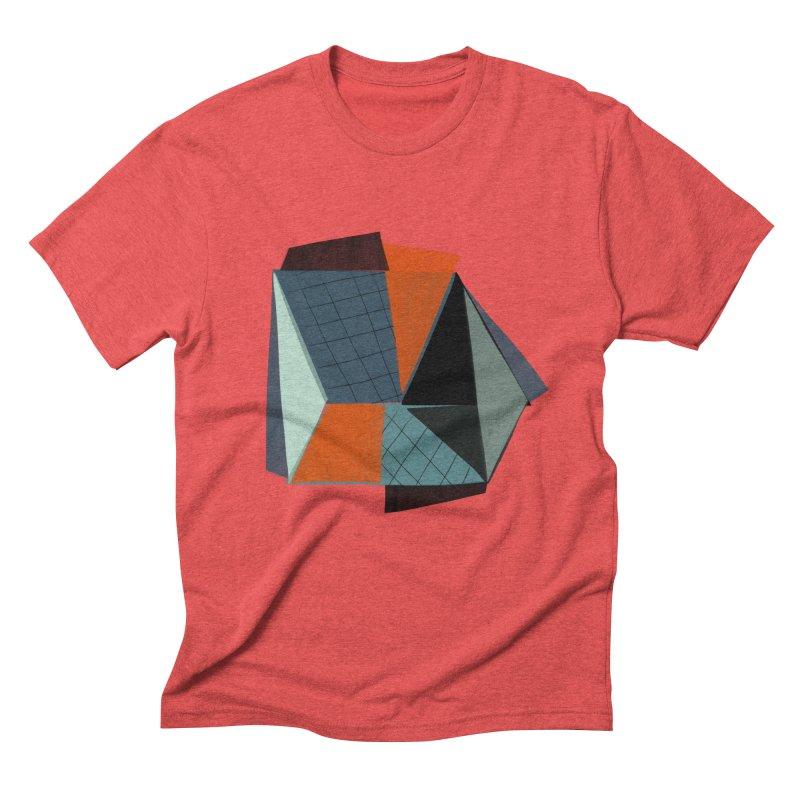 Square Diamonds 3 Men's Triblend T-Shirt by Michael Pfleghaar