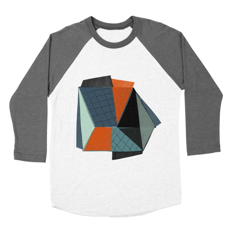 Square Diamonds 3 Women's Baseball Triblend Longsleeve T-Shirt by Michael Pfleghaar
