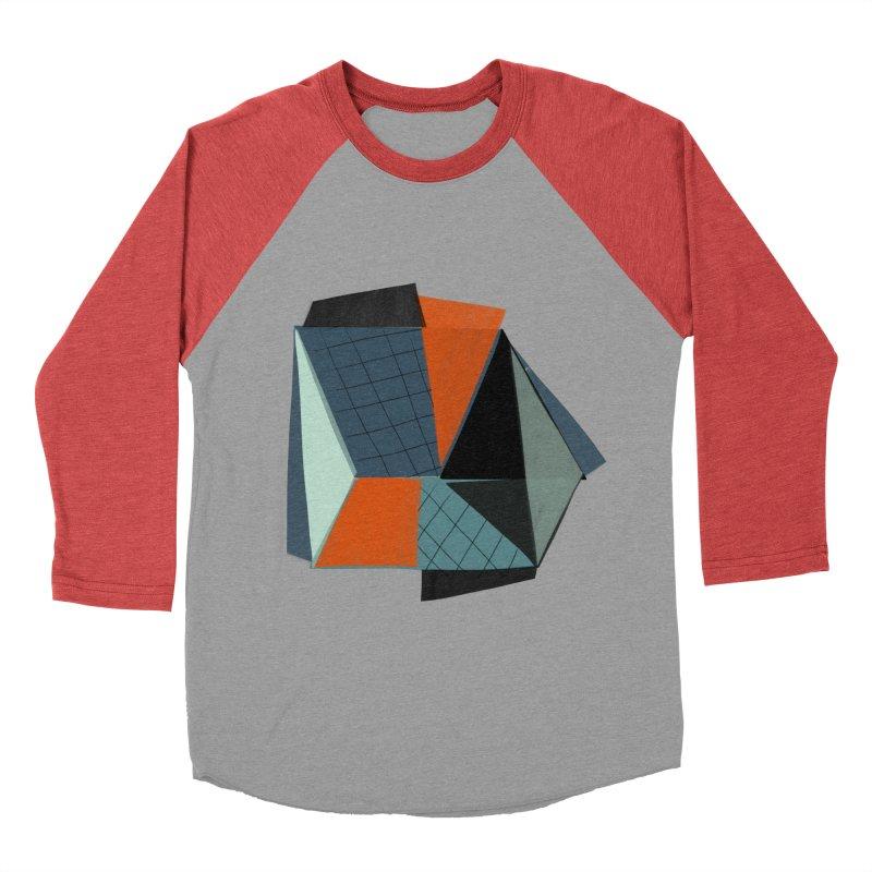 Square Diamonds 3 Women's Baseball Triblend Longsleeve T-Shirt by Michael Pfleghaar