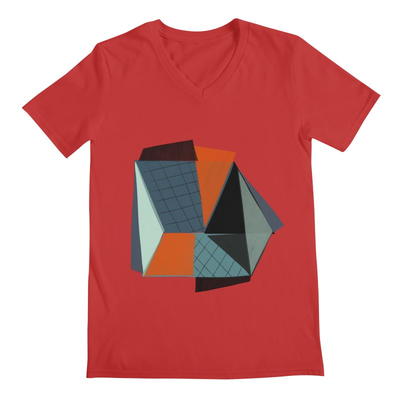 Square Diamonds 3 Men's Regular V-Neck by Michael Pfleghaar