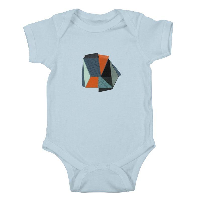 Square Diamonds 3 Kids Baby Bodysuit by Michael Pfleghaar