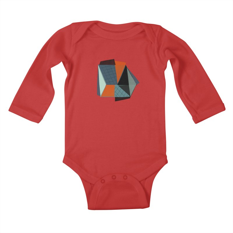 Square Diamonds 3 Kids Baby Longsleeve Bodysuit by Michael Pfleghaar