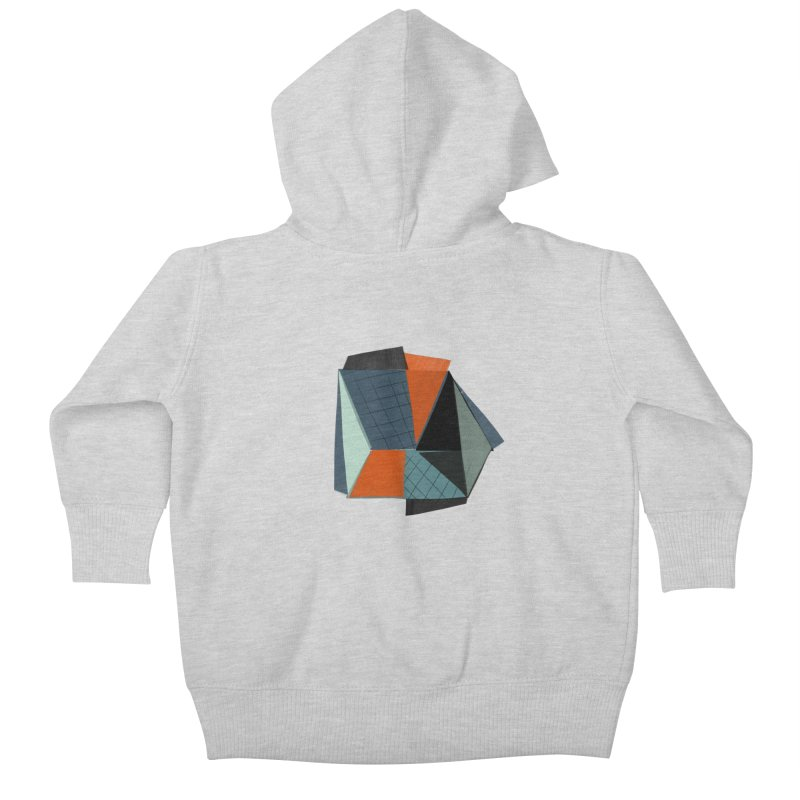 Square Diamonds 3 Kids Baby Zip-Up Hoody by Michael Pfleghaar