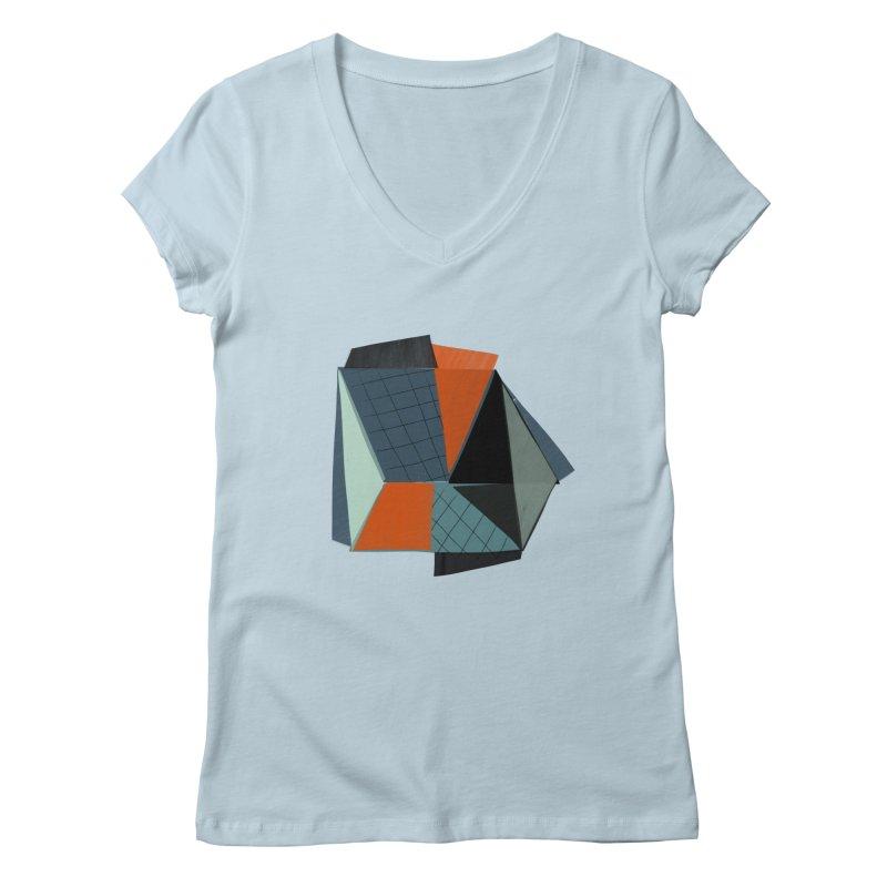 Square Diamonds 3 Women's V-Neck by Michael Pfleghaar