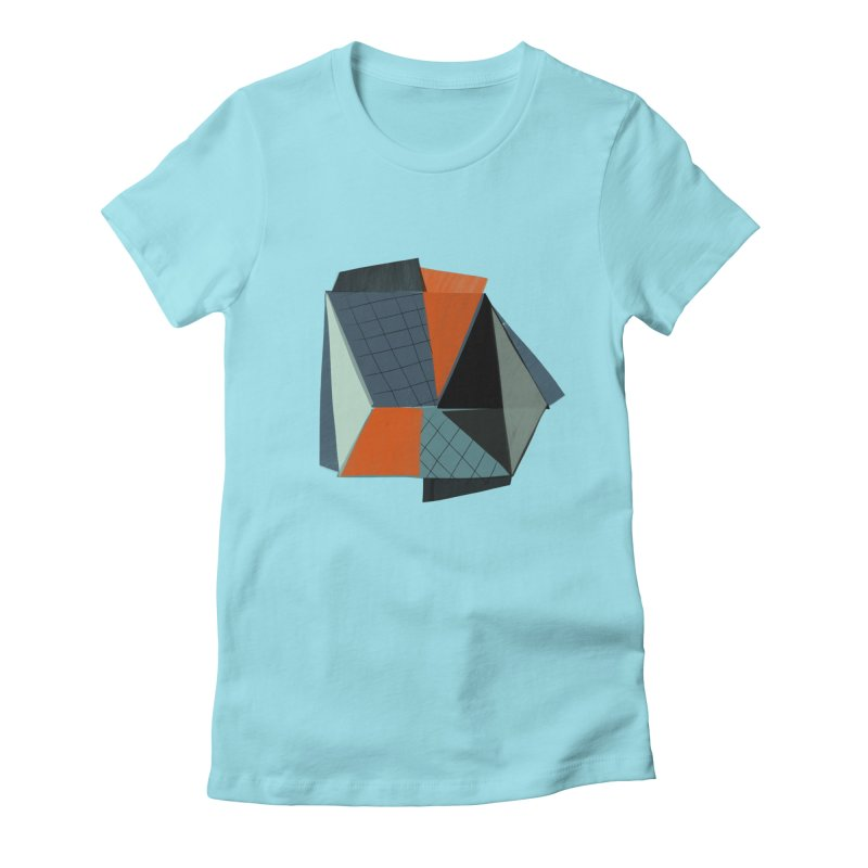 Square Diamonds 3 Women's Fitted T-Shirt by Michael Pfleghaar