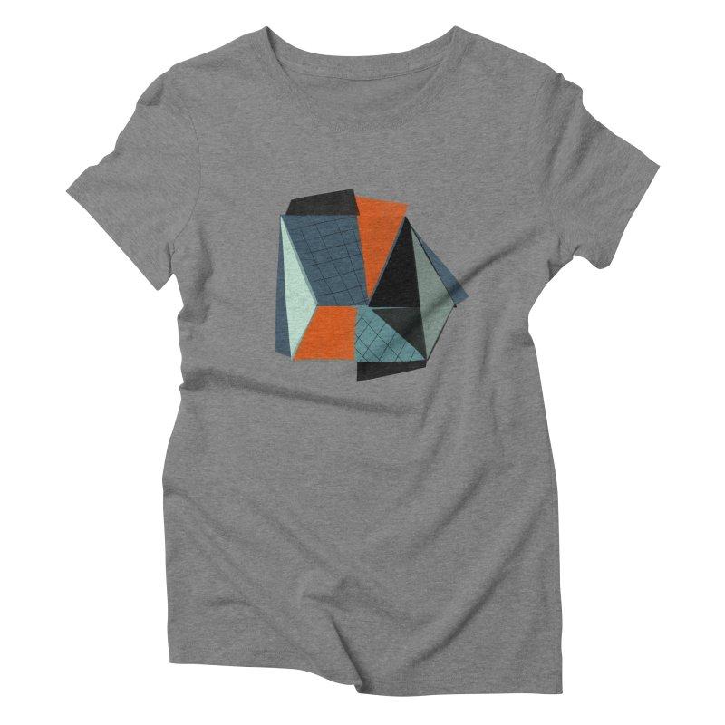 Square Diamonds 3 Women's Triblend T-Shirt by Michael Pfleghaar