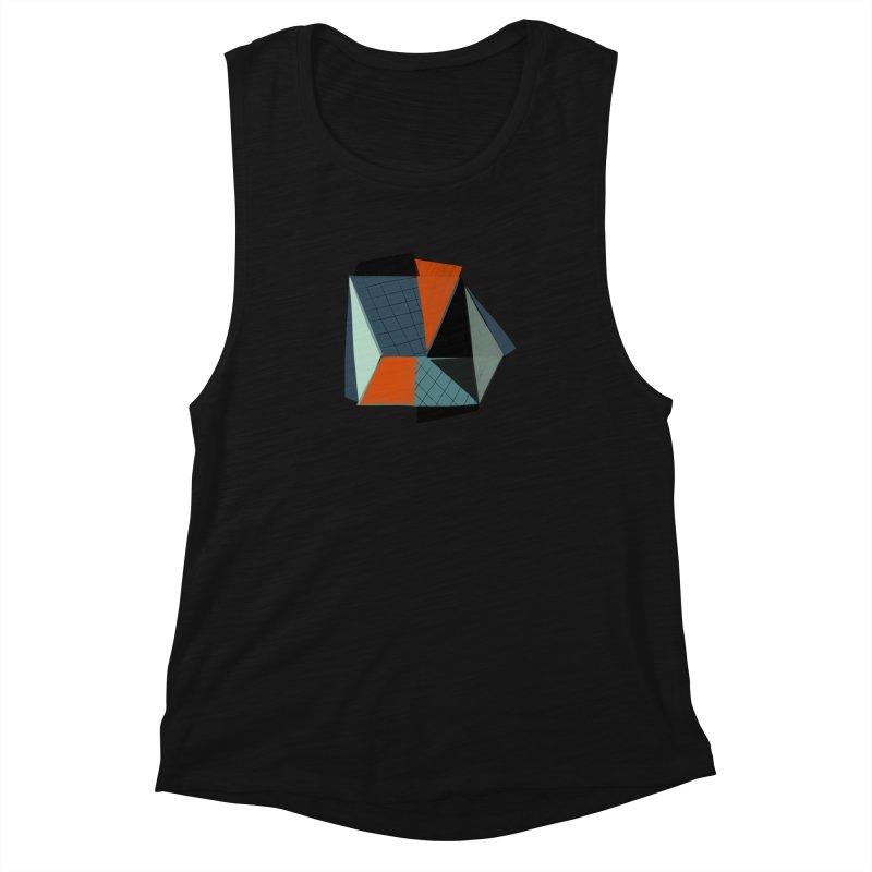 Square Diamonds 3 Women's Muscle Tank by Michael Pfleghaar