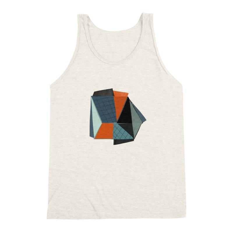 Square Diamonds 3 Men's Triblend Tank by Michael Pfleghaar