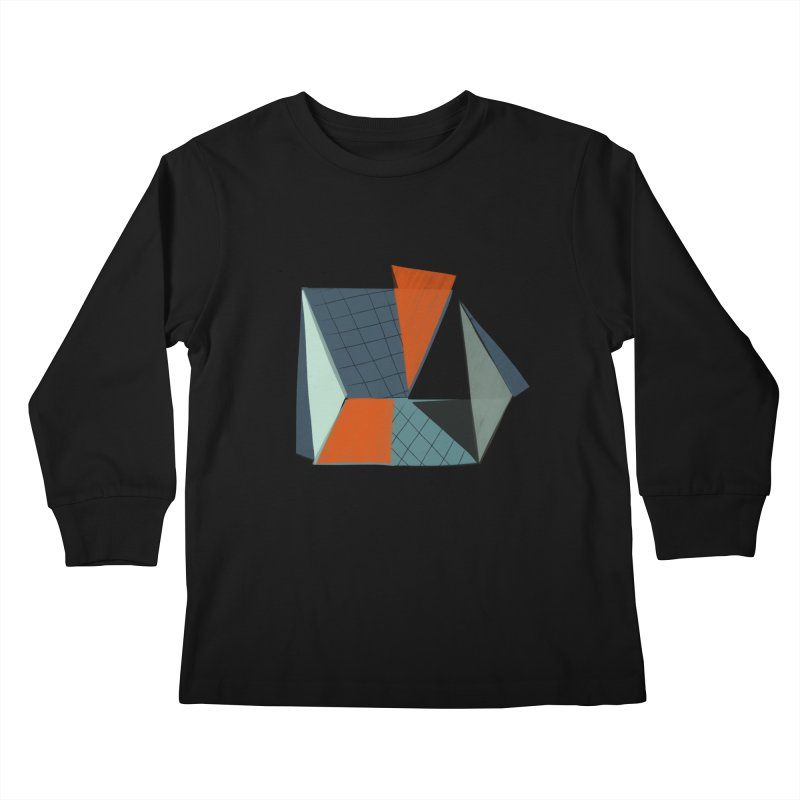Square Diamonds 3 Kids Longsleeve T-Shirt by Michael Pfleghaar