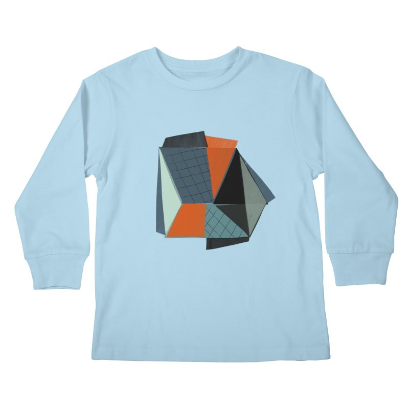 Square Diamonds 3 Kids Longsleeve T-Shirt by Michael Pfleghaar