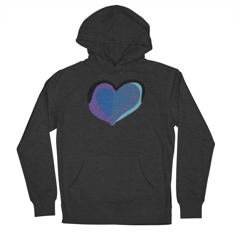 Purple Heart Women's French Terry Pullover Hoody by Michael Pfleghaar
