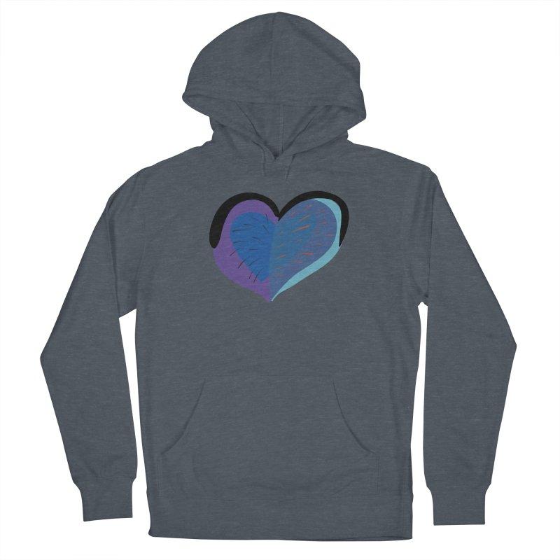 Purple Heart Men's French Terry Pullover Hoody by Michael Pfleghaar