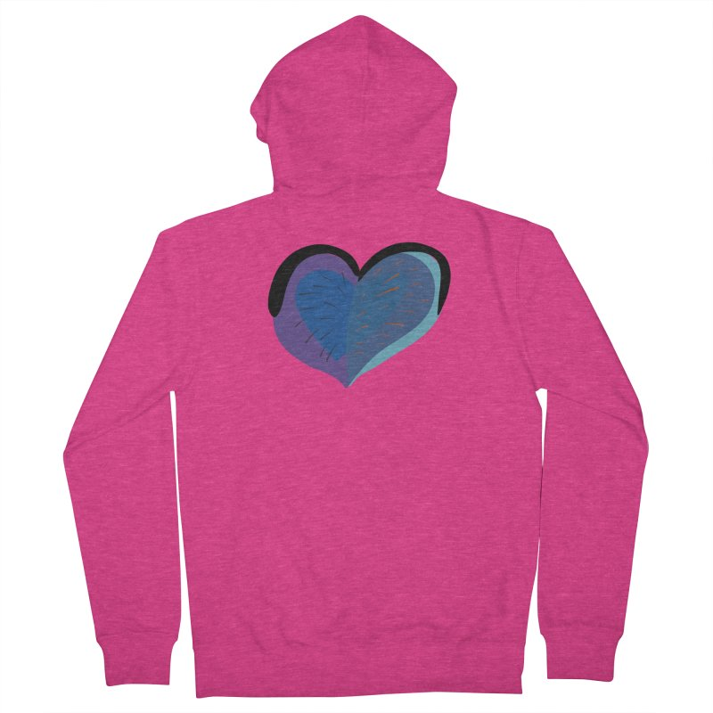 Purple Heart Women's French Terry Zip-Up Hoody by Michael Pfleghaar