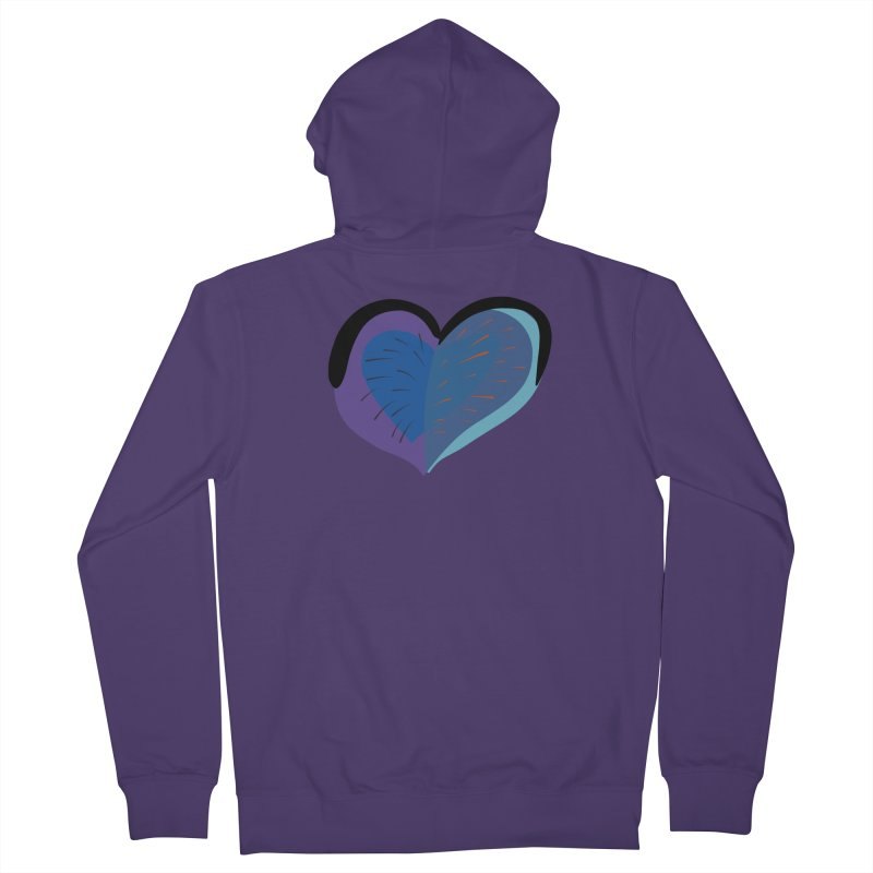 Purple Heart Women's French Terry Zip-Up Hoody by Michael Pfleghaar