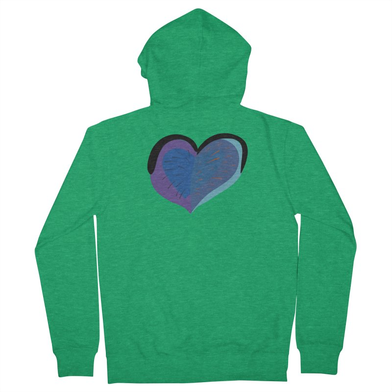 Purple Heart Men's French Terry Zip-Up Hoody by Michael Pfleghaar