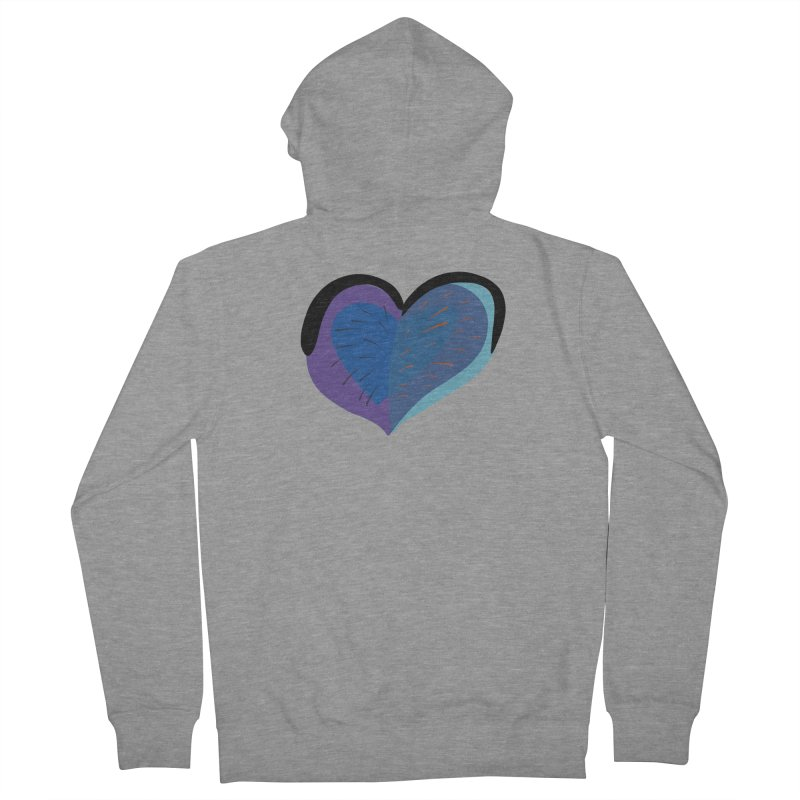 Purple Heart Men's French Terry Zip-Up Hoody by Michael Pfleghaar