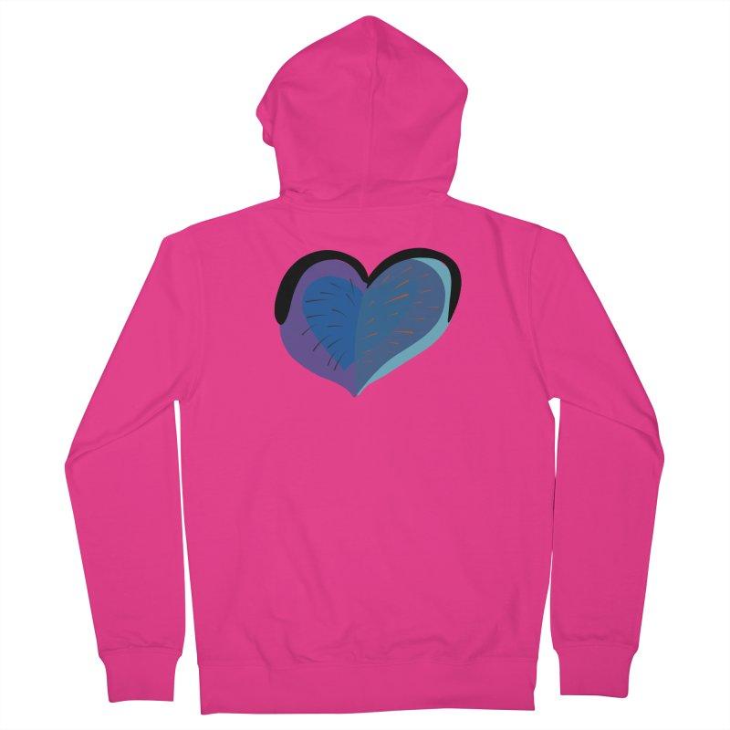 Purple Heart Men's Zip-Up Hoody by Michael Pfleghaar