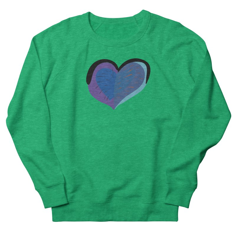 Purple Heart Women's French Terry Sweatshirt by Michael Pfleghaar