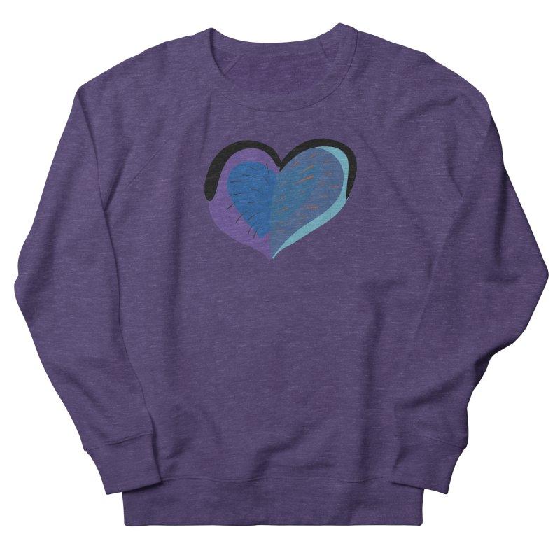 Purple Heart Women's French Terry Sweatshirt by Michael Pfleghaar