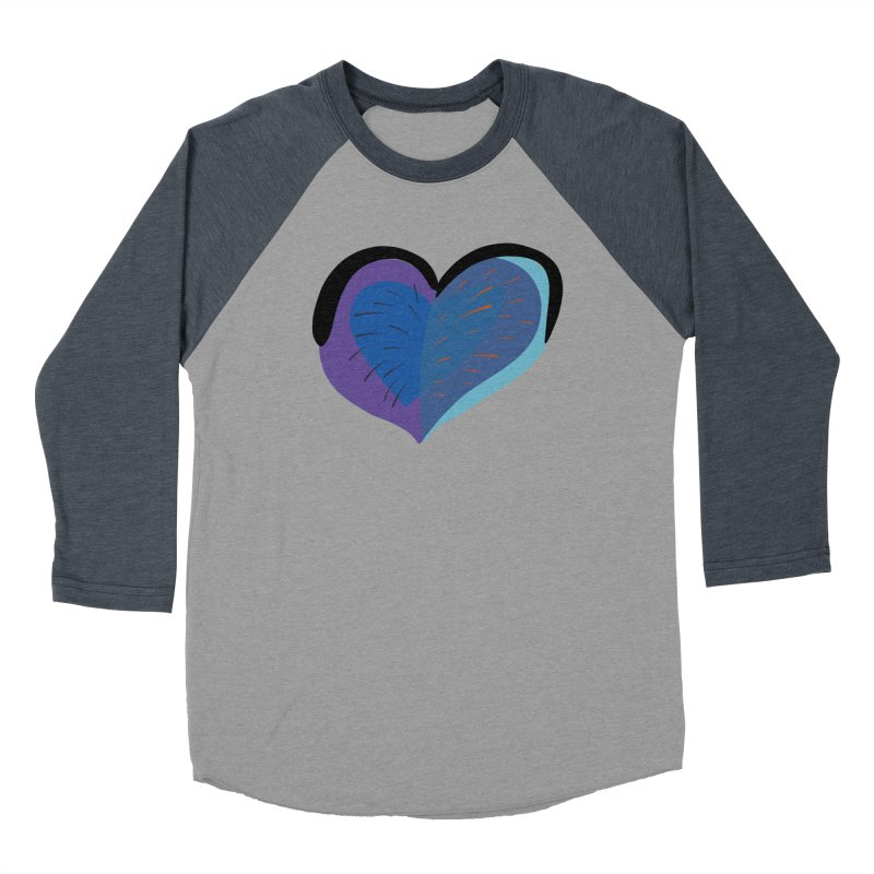 Purple Heart Women's Baseball Triblend Longsleeve T-Shirt by Michael Pfleghaar