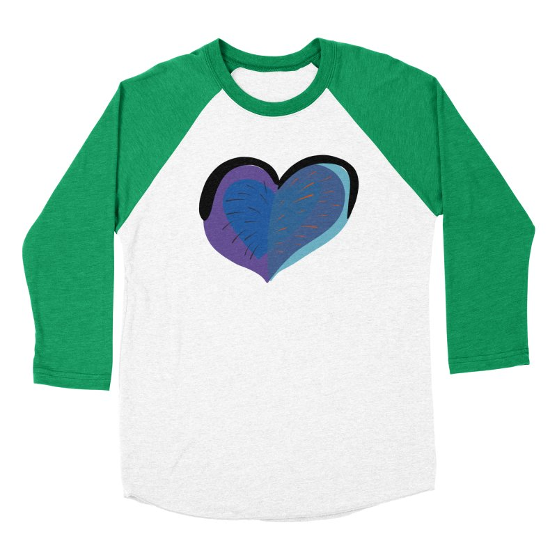 Purple Heart Men's Baseball Triblend Longsleeve T-Shirt by Michael Pfleghaar