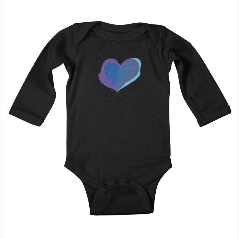 Purple Heart Kids Baby Longsleeve Bodysuit by Michael Pfleghaar