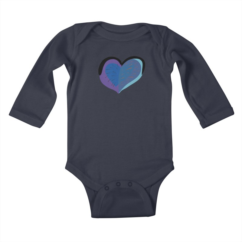 Purple Heart Kids Baby Longsleeve Bodysuit by Michael Pfleghaar